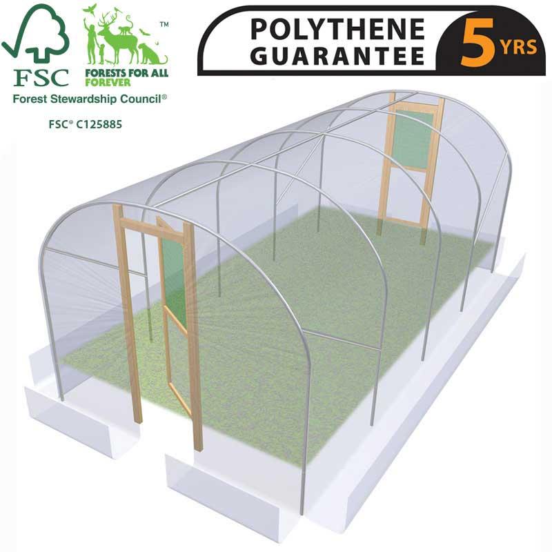 10ft Wide Polytunnel - 10ft Polytunnels For Sale Online