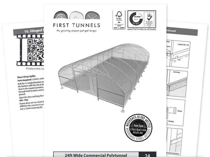 Polytunnel Instruction Manuals